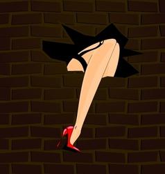 feet and wall vector image