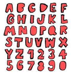 Fun font red vector
