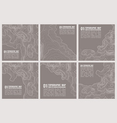 Geographic mountain topography vector