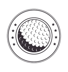 Golf ball stamp label vector