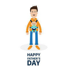 happy fathers day funny cartoon guy cute male vector image