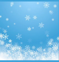 holiday winter background for merry christmas and vector image