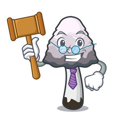 Judge shaggy mane mushroom mascot cartoon vector