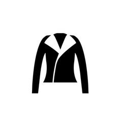 Leather jacket icon on white background clothing vector