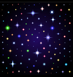 Light glare space stars of lens vector