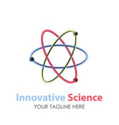 Logo science design icon technology abstract vector