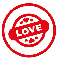 Love stamp seal rounded icon vector