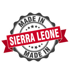 Made in sierra leone round seal vector