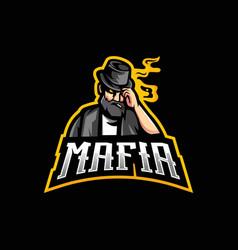 mafia mascot logo vector image