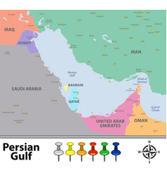 Map of persian gulf vector