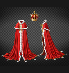 Medieval monarch royal garment realistic vector