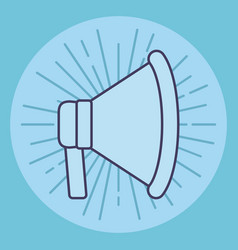 megaphone promotion marketing business icon vector image
