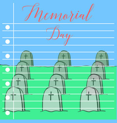Memroail day style collection greeting card vector