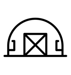 Military base hangar icon outline style vector