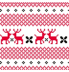 Norwegian ornamental Christmas pattern vector image