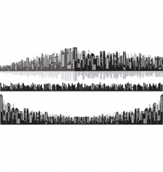 panorama cityscape vector image