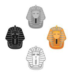 Pharaoh s golden mask icon in cartoonblack style vector