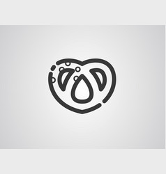 pretzel icon sign symbol vector image