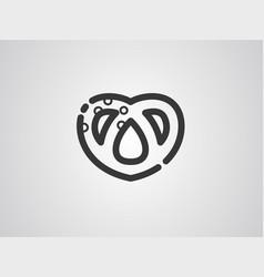 pretzel icon sign symbol vector image
