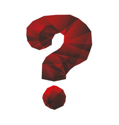 question mark symbol vector image