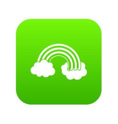 rainbow lgbt icon digital green vector image