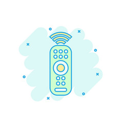 Remote control icon in comic style infrared vector