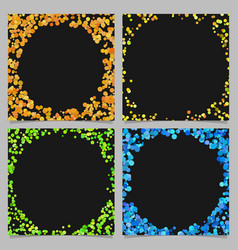 round border background design set with dots vector image