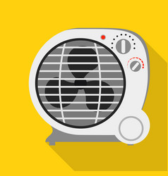 round fan heater icon flat style vector image