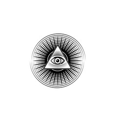 sacred masonic symbol all seeing eye isolated vector image