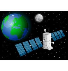 Satellite in space vector