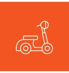Scooter line icon vector image vector image