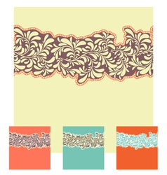 seamless decorative element border set vector image