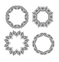 set round ornament frames vector image