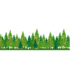spruce forest tileable horizontally vector image