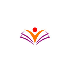 student open book education logo vector image