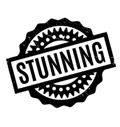 Stunning rubber stamp vector