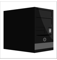 System unit of a computer icon monochrome style vector image
