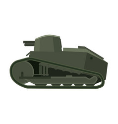 Tank renault ft17 french light tank military army vector