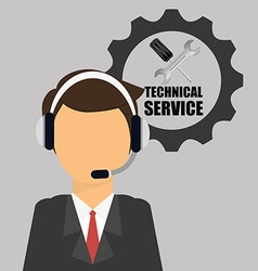 Technical service design vector image
