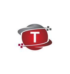technology transfer letter t vector image