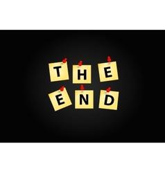 The End Screen Design Template vector