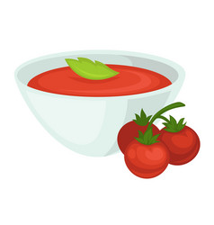 tomato soup icon for tomatoes vegetable vector image