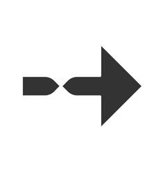 Twisted arrow glyph icon direction arrowhead vector