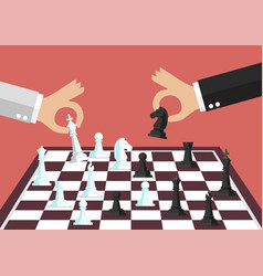 two business people playing chess vector image