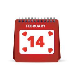 valentine day calendar vector image