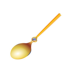 Vintage gold spoon with a holidays ornament in vector
