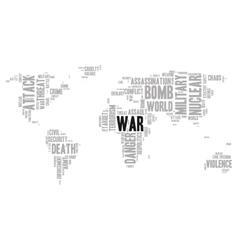 War word cloud vector image