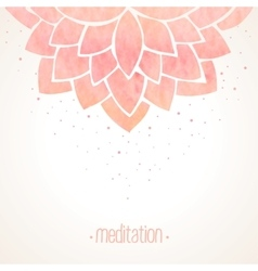 Watercolor pink floral background vector image