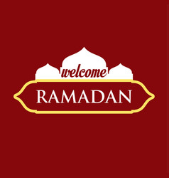 Welcome ramadan template design vector