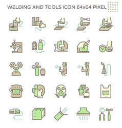 Welding work and tools such as torch gas vector